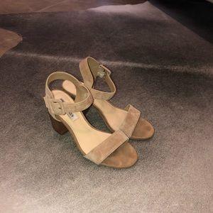 Steve Madden Nude Block heel Sandal 7.5